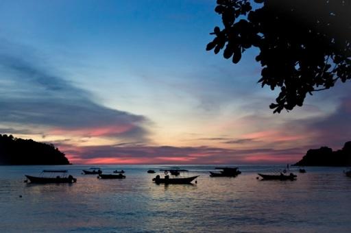 Sunset in Pulau Pankor, Malaysia