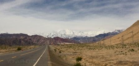 Danxia landform in Xinjiang Province, China
