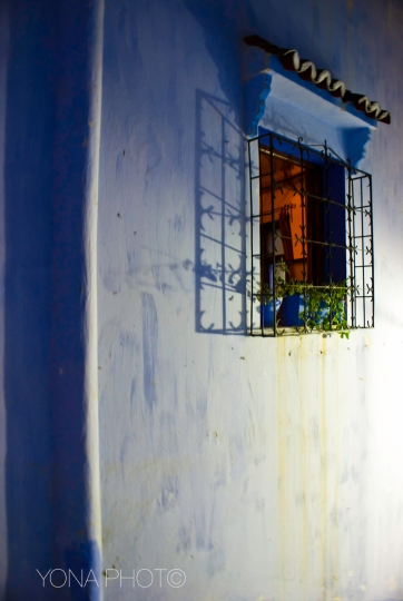 The warmth of the living room in the fainted blue Medina of Chefchaouen