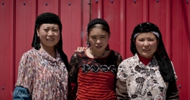 Hui Women posing in Menyuan