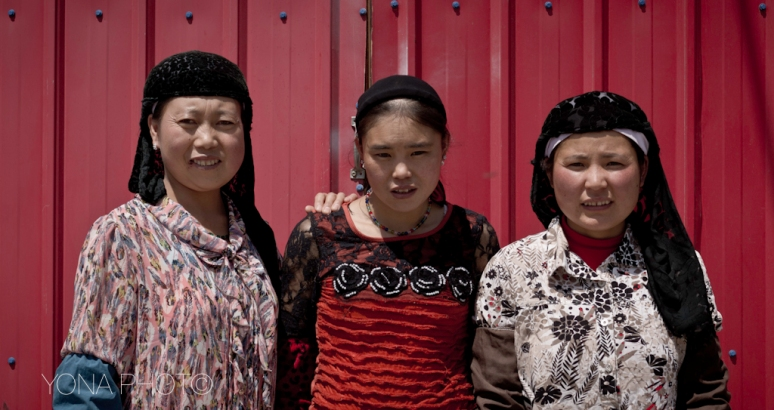Hui Women posing in Menyuan