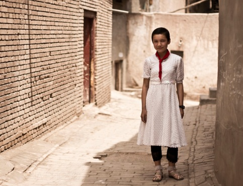 Uyghur Girl, Old Town, Kashgar, Xinijang, 2011