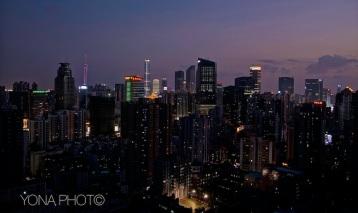 Sunset over Guangzhou, Guangdong, 2012