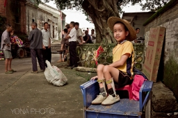 Boy on cart, ZhaoQing, Guangdong, 2012