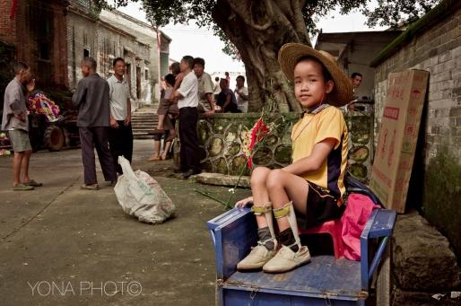 Boy on cart, ZhaoQing, Guangdong, 2012
