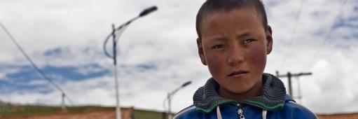 Tibetan boy in Maduo, Qinghai Province