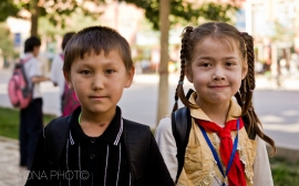 Uygur kids in the streets of Urumuqi - Xinjiang Province, China