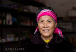 Hakka Woman in her winter outfit