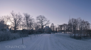 Haerst, covered in snow, in winter