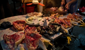 Guandong Poultry Shop with Black Chicken meat
