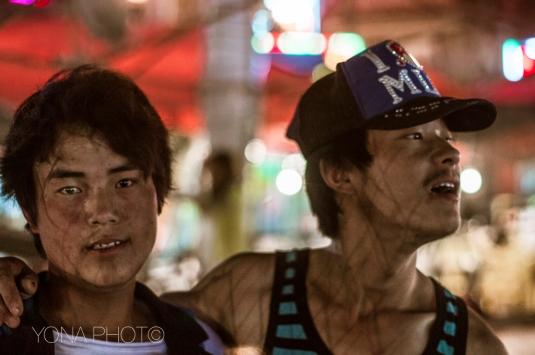 Tibetan boys at the skating ring