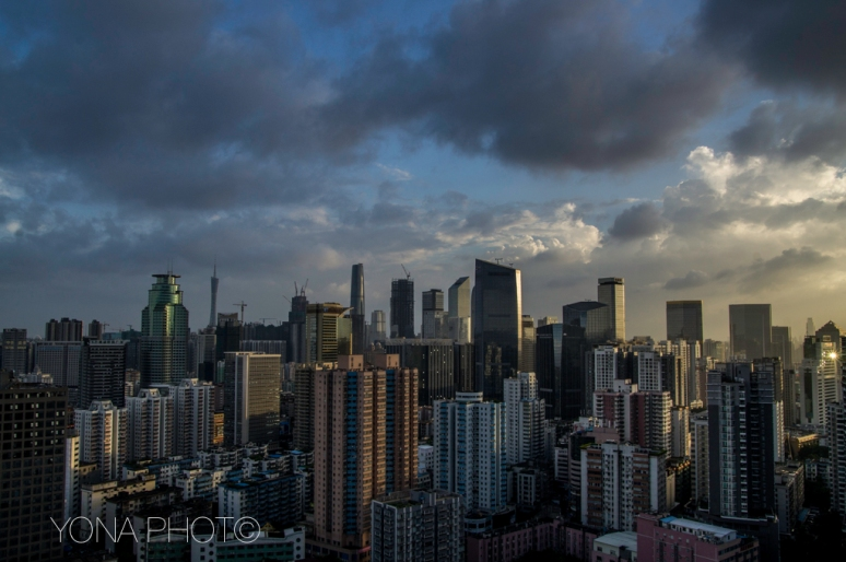 Guangzhou Skyline after a heavy storm
