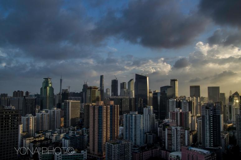 Guangzhou Skyline after a heavy storm