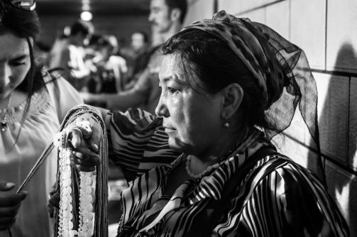 Uyghur street vendor, Urumuqi, Xinjiang, 2011