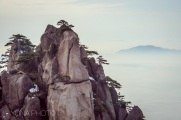 Pinnacles in Huangshan (Yellow Mountain) by winter - near Hangzhou