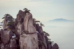 Pinnacles in Huangshan (Yellow Mountain) by winter - near Hangzhou