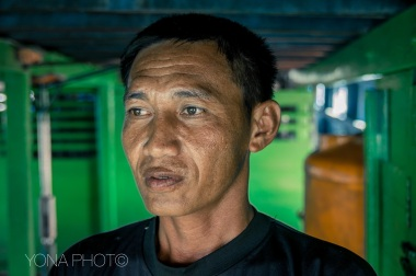Potrait of Sulawesi Man on a Boat