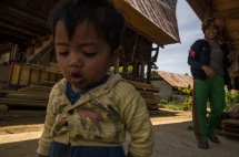 Indonesian kid in Torajan Community