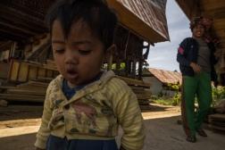 Indonesian kid in Torajan Community