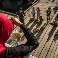 The welcoming Durian sales 'men' in the Togean Islands of Sulawesi - Indonesia 2014