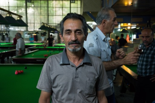 Armenian snooker player in Teheran - Iran