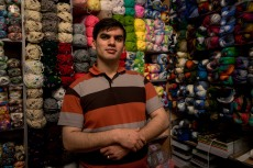 Isfahan fabric sales man