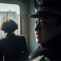 Train attendants in the train from Taiyuan to Pingyao on an early morning - Shanxi Province - 2014