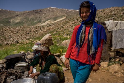 Qashqai Nomad girl in Iran